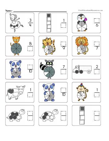 Fractions - Missing Numerators and Denominators - Worksheet #1 teaching resource