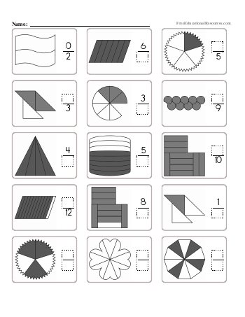 teach Fractions - Missing Numerators and Denominators - Worksheet #2