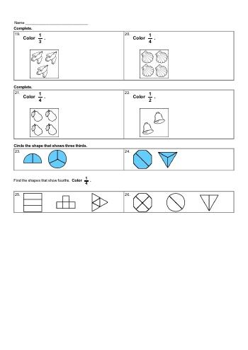 teach Basic of Fractions Workbook
