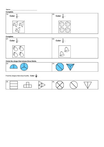 teach Basic of Fractions Workbook