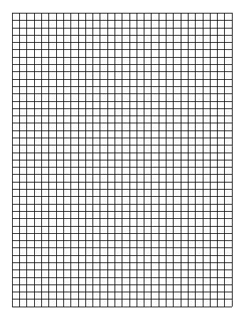 teach Standard Graph Paper - One Quadrant Per Page