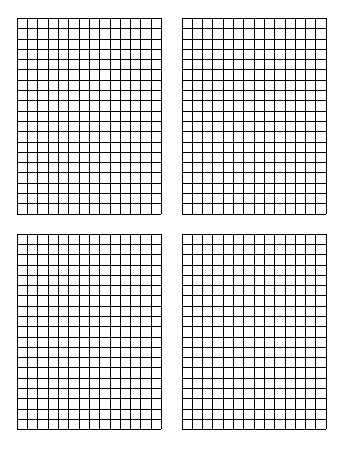 Standard Graph Paper - Four Quadrants Per Page teaching resource