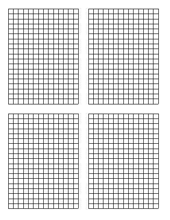 Standard Graph Paper - Four Quadrants Per Page worksheet