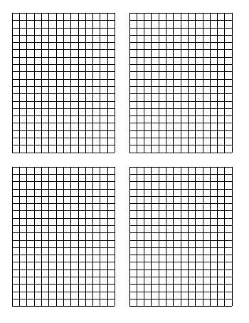 teach Standard Graph Paper - Four Quadrants Per Page