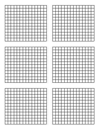 teach Standard Graph Paper - Six Quadrants Per Page