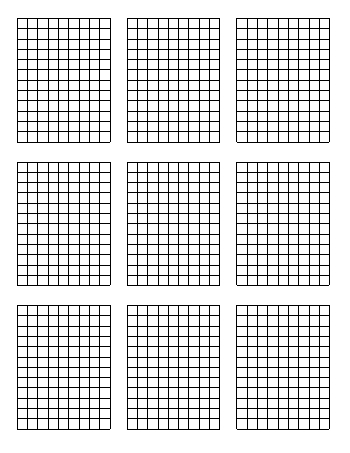 Standard Graph Paper - Nine Quadrants Per Page teaching resource