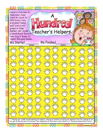 teach A Hundred Teacher's Helpers Basics Chart