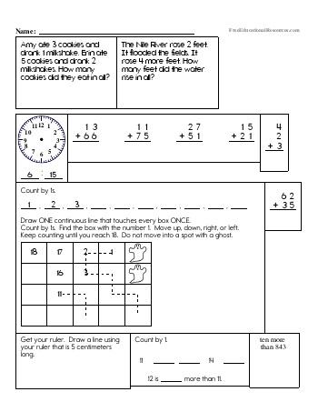 teach Second Grade Math Review (Book #3)