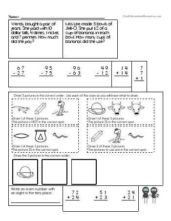Third Grade Math Review teaching resource