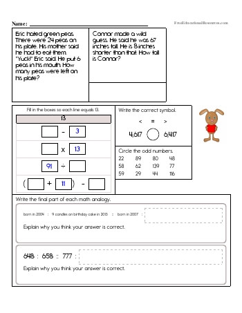3rd grade math review worksheets. Black Bedroom Furniture Sets. Home Design Ideas