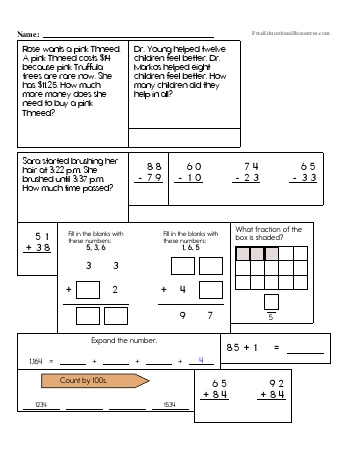 teach Third Grade Math Review (Book #3)