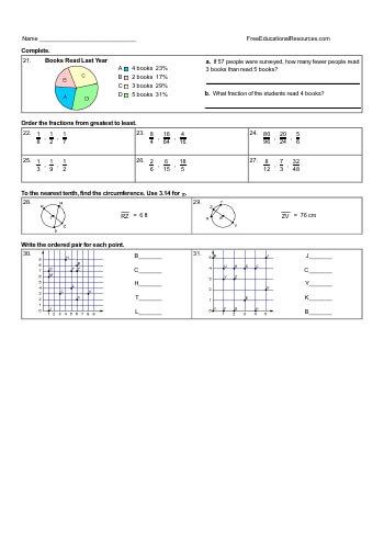 teach Fifth Grade Math Review - Mixed Work (Book #2)
