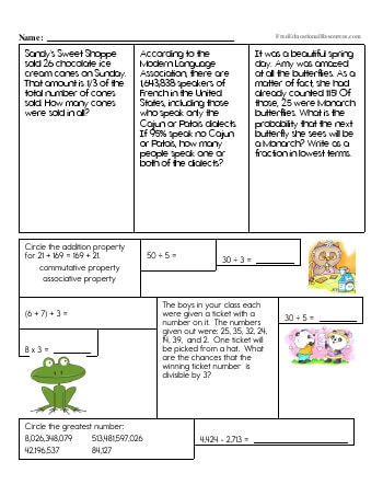 6th Grade Math Review Worksheets | FreeEducationalResources.com