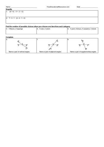 teach Pre-Algebra (Easier) Math Review - Mixed Work (Book #3)