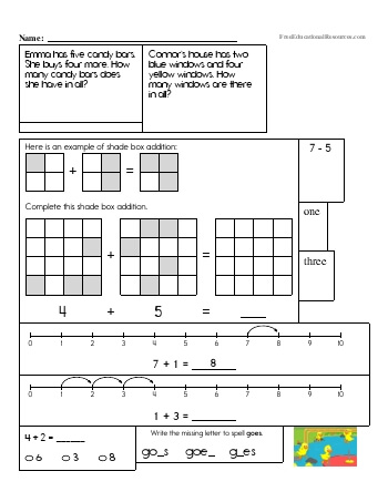 First Grade Math Review (Book #3) teaching resource