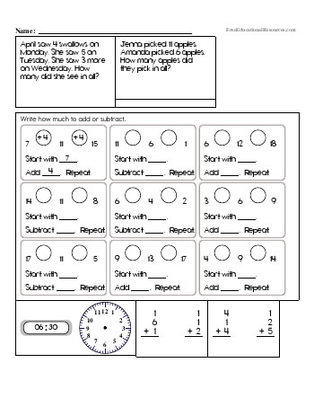 2nd Grade Math Review Worksheets | FreeEducationalResources.com