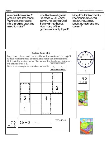 2nd Grade Math Review Worksheets Freeeducationalresourcescom