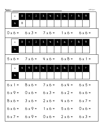 teach Multiplication Facts: 6s (6 x number) OR (number x 6)