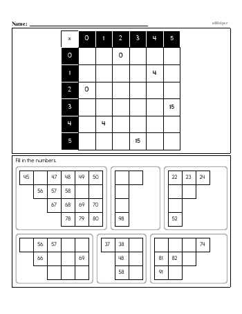 teach Multiplication Review Workbook - 0 to 9 - Book #1
