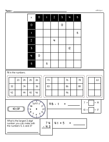 teach Multiplication Review Workbook - 0 to 9 - Book #3