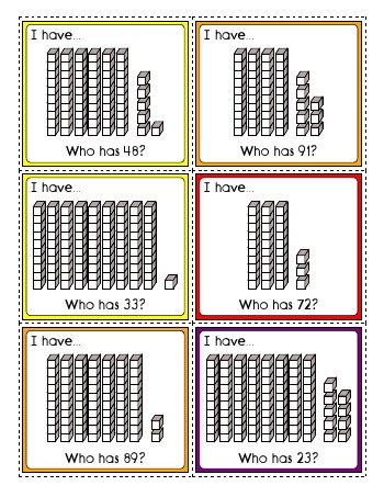 I have... Who has? - Tens and Ones Place Value Activity (20 cards) teaching resource