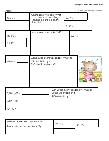 teach Singapore Math - Sixth Grade Book #2