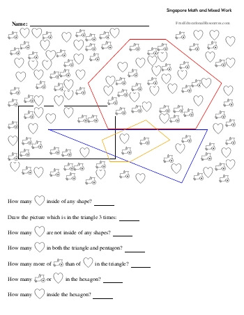 Singapore Math Worksheets | FreeEducationalResources.com