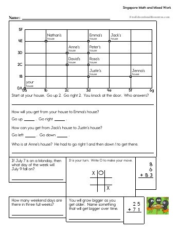 Singapore Math - Second Grade Book #1 teaching resource