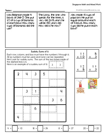Singapore Math - Third Grade Book #2 worksheet