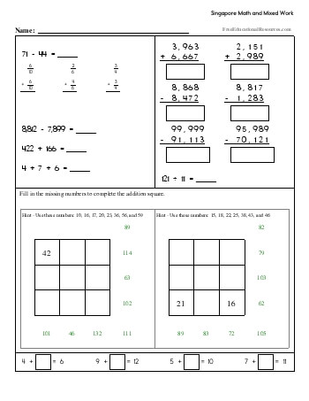 Singapore Math - Fourth Grade Book #2 teaching resource
