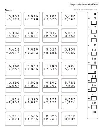 Singapore Math - Fifth Grade Book #1 worksheet