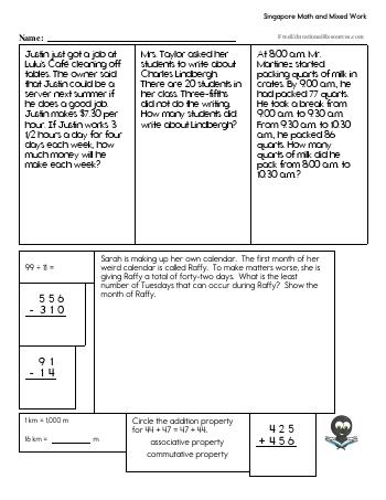 Singapore Math Worksheets | FreeEducationalResources.com