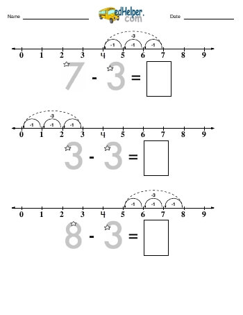 teach Subtracting -3