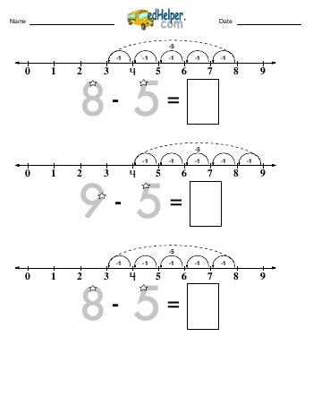 Subtracting -5 teaching resource