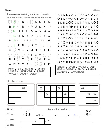 3rd Grade No Prep 2-Digit Subtraction Book (includes mixed work) [No Regrouping] worksheet
