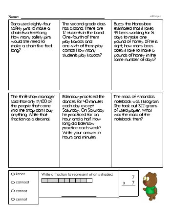 4th Grade No Prep 2-Digit Subtraction Book (includes mixed work) [No Regrouping] teaching resource