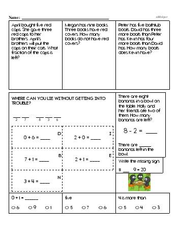 teach First Grade Word Problems Resource Book (Week #3)