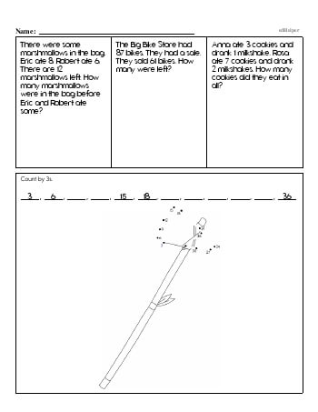 teach First Grade Word Problems Resource Book (Week #4)