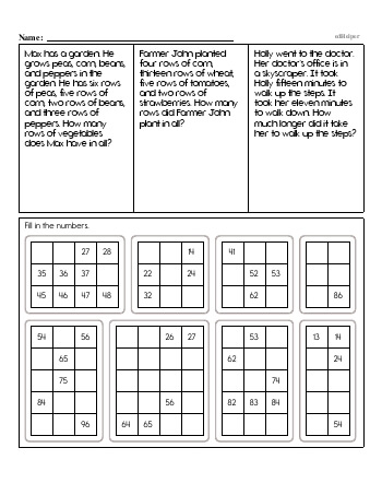 teach Second Grade Word Problems Resource Book (Week #2)