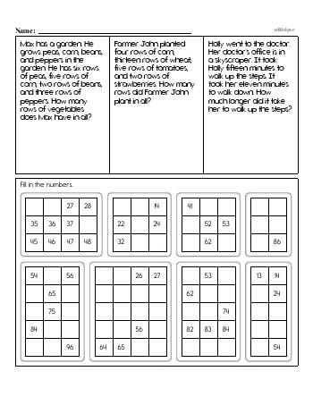 Second Grade Word Problems Resource Book (Week #2) worksheet
