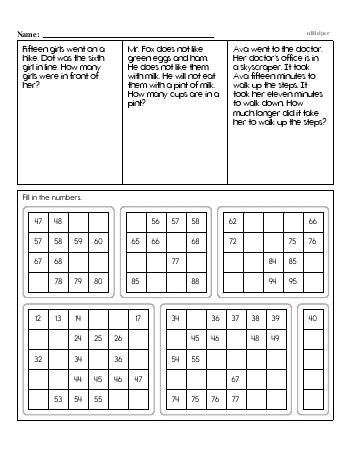 Second Grade Word Problems Resource Book (Week #3) worksheet