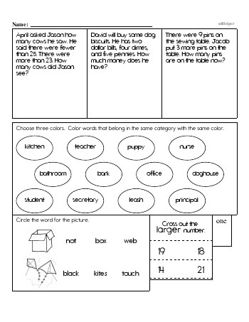 teach First Grade Word Problems Resource Book (Week #12)