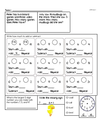 Second Grade Word Problems Resource Book (Week #7) teaching resource