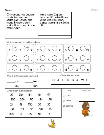 teach Second Grade Word Problems Resource Book (Week #9)