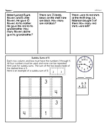 teach Second Grade Word Problems Resource Book (Week #11)