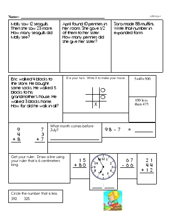 teach Second Grade Word Problems Resource Book (Week #13)