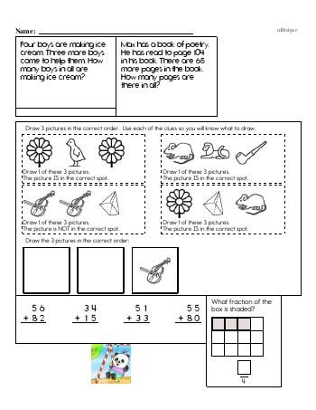 Third Grade Word Problems Resource Book (Week #2) teaching resource