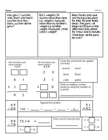 teach Third Grade Word Problems Resource Book (Week #2)