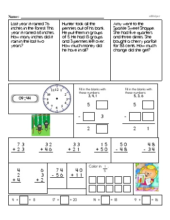 teach Third Grade Word Problems Resource Book (Week #4)