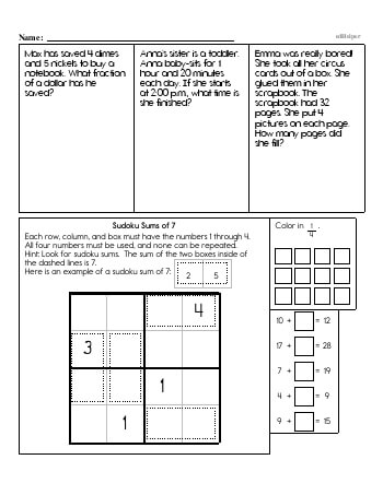 Third Grade Word Problems Resource Book (Week #5) teaching resource